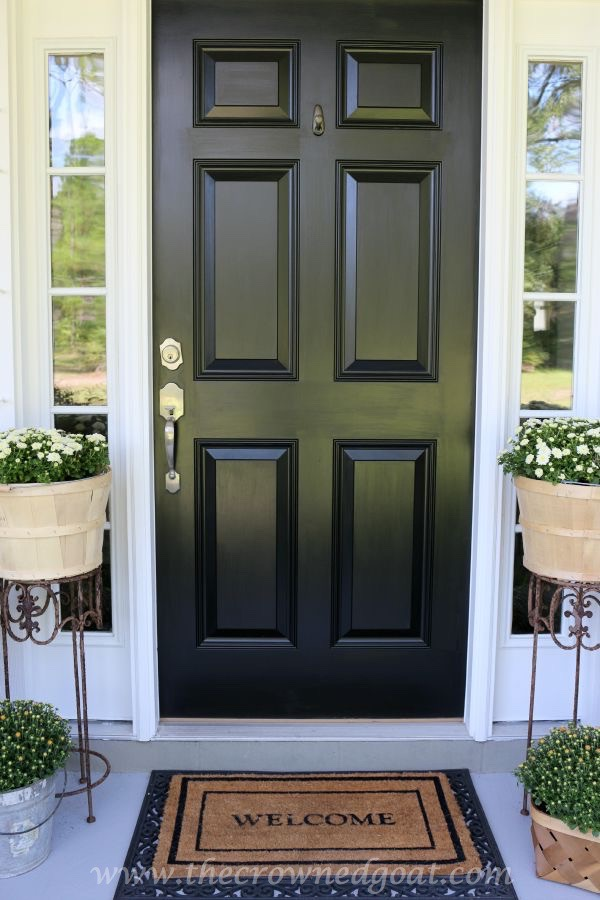 Front door paint with modern masters the crowned goat