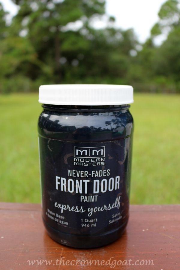 092315-7 Front Door Paint with Modern Masters DIY