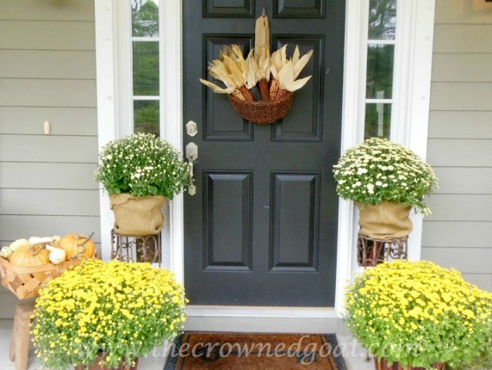 Fall-Porch-with-Mums-Corn-and-Pumpkins-090315-9 10 Ways to Ease Into Fall Fall