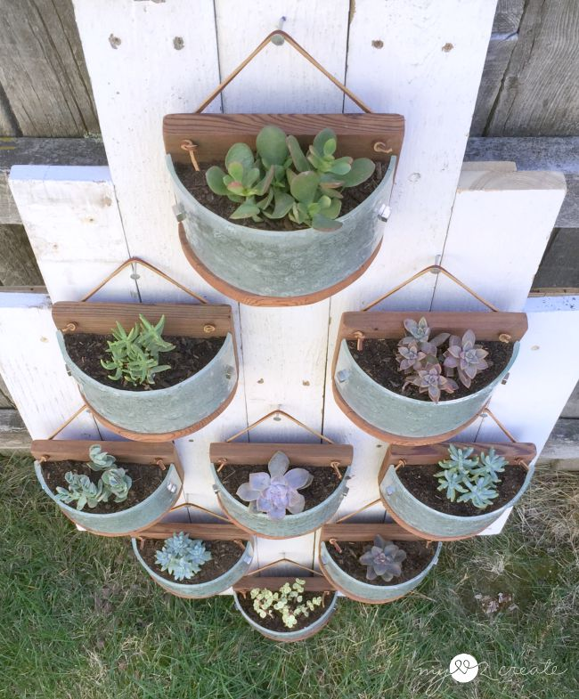 Mylove2Create-Hanging-succulent-planters-made-from-light-fixtures-and-deck-wood Something to Talk About Link Party 36 LinkParty