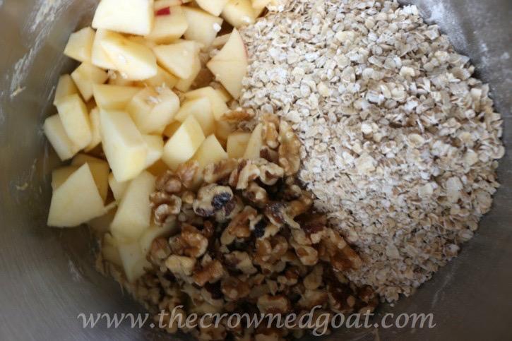 100915-5 Apple Oatmeal and Walnut Cookies Baking