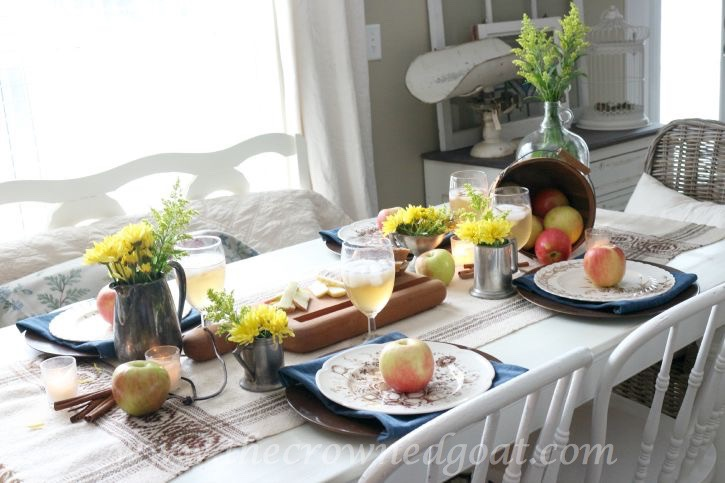 Autumn-Apple-Inspired-Tablescape-100815-20 Autumn Apples Inspired Home Tour Decorating