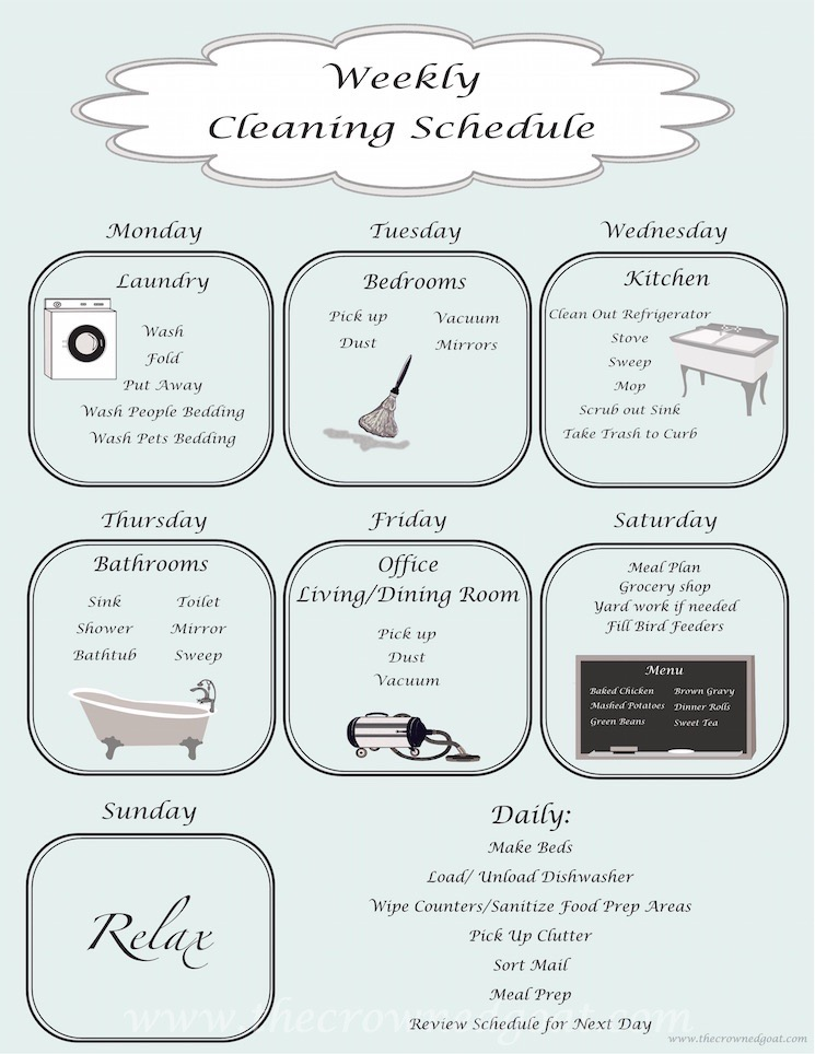Daily Cleaning Schedule - 100615-8