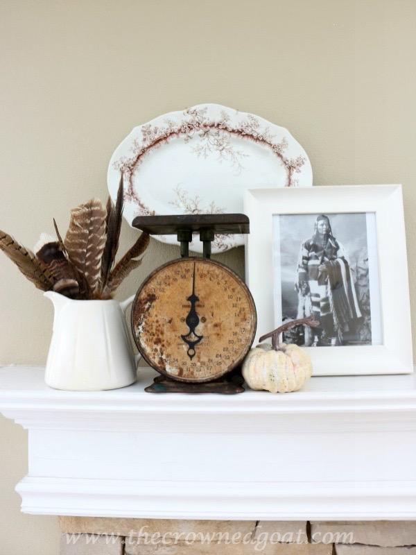 110315-1 Thanksgiving Inspired Mantel Decorating Holidays