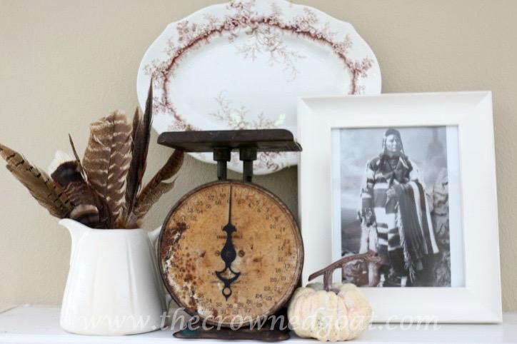 110315-2 Thanksgiving Inspired Mantel Decorating Holidays