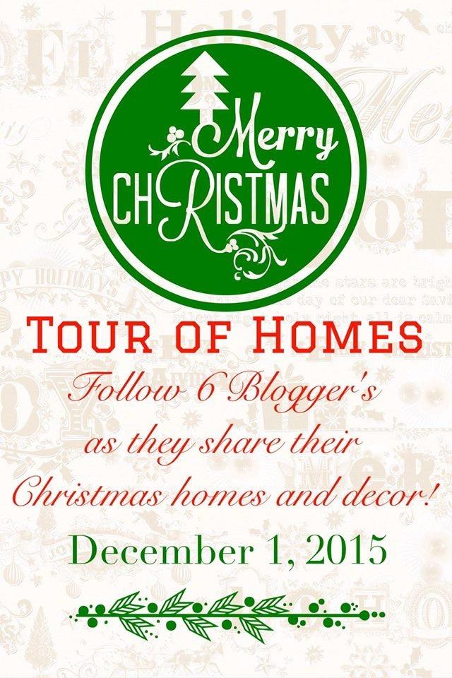 2015-Christmas-Tour-of-Homes-Blog-Hop 2015 Merry Christmas Tour of Homes Blog Hop Decorating Holidays