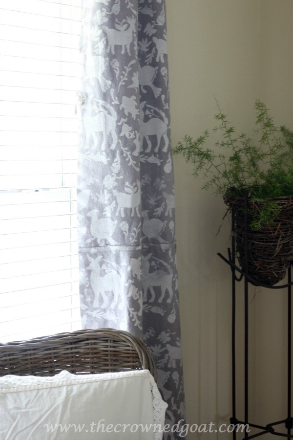 010716-17 How to Customize Drop Cloth Curtains with Paint & Stencils Decorating DIY