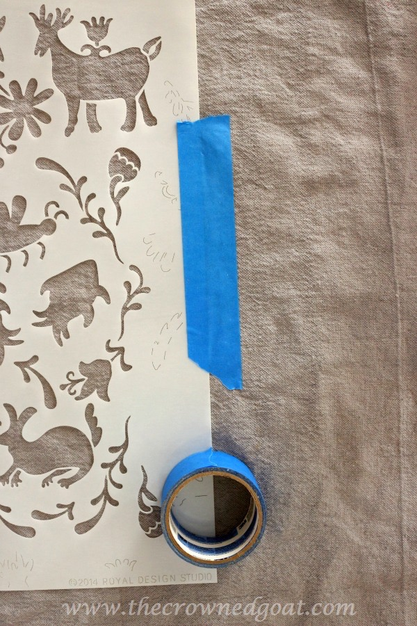 010716-9 How to Customize Drop Cloth Curtains with Paint & Stencils Decorating DIY