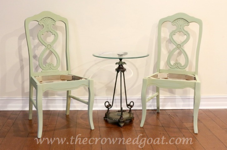 011516-8 Lucketts Green Milk Painted Chairs Decorating Loblolly_Manor Painted Furniture