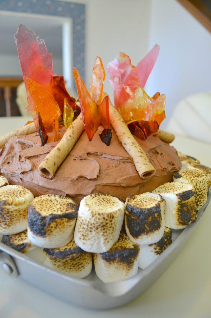 Campfire-Cake-678x1024 Something To Talk About Link Party #50 LinkParty