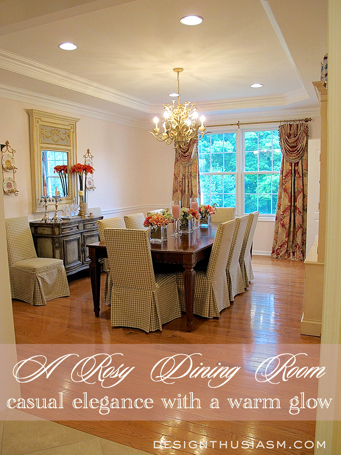Rosy-Dining-Room-Title Something To Talk About Link Party #50 LinkParty