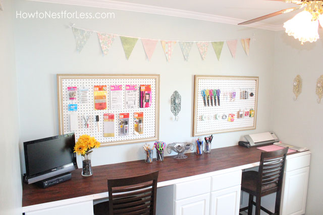 craft-room-bunting-and-peg-boards Something To Talk About Link Party #50 LinkParty