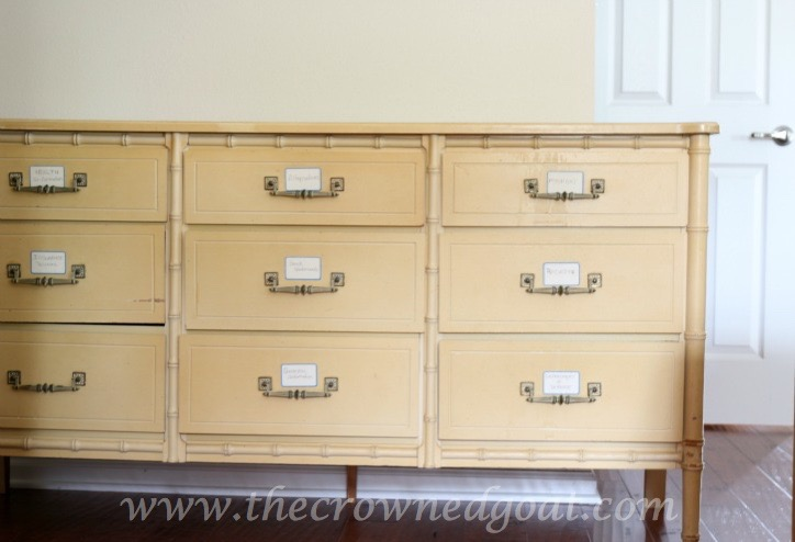 021616-1 Pure White Painted Dresser DIY Painted Furniture
