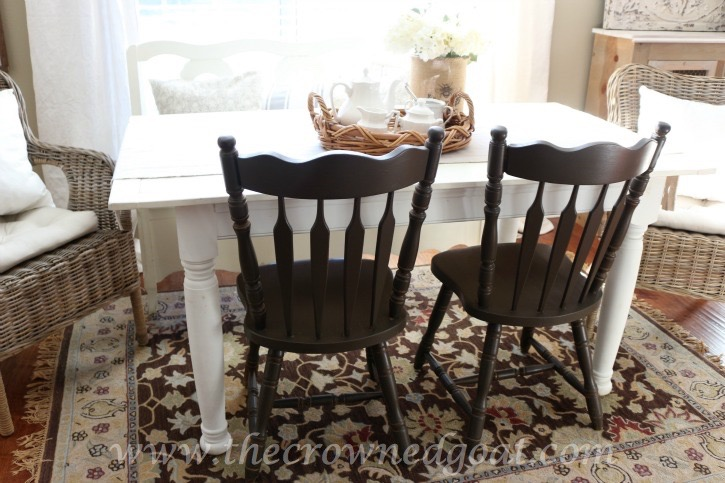 021816-3 Valspar Fired Earth Painted Chairs