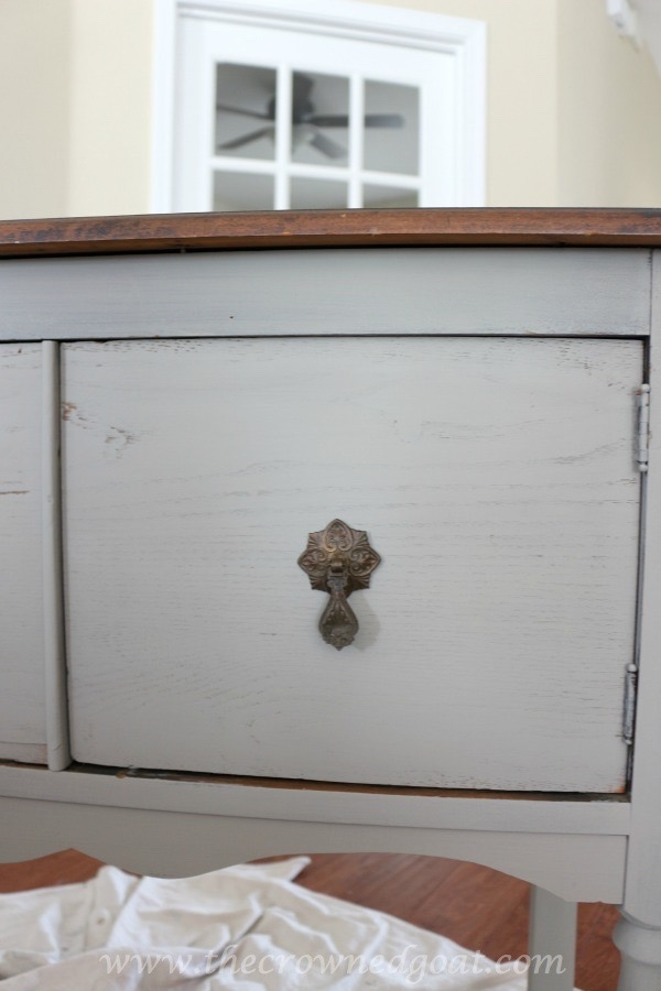 022416-14 French Linen Painted Nightstand Painted Furniture
