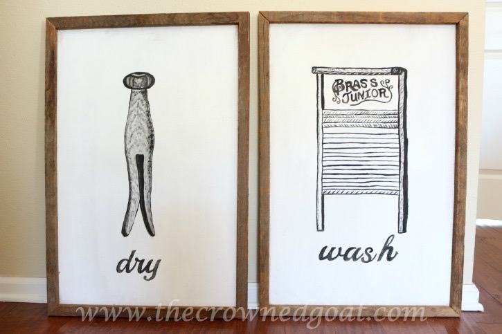 030916-17 How to Create Laundry Room Art DIY