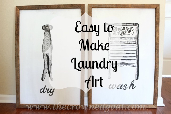 030916-18 How to Create Laundry Room Art DIY