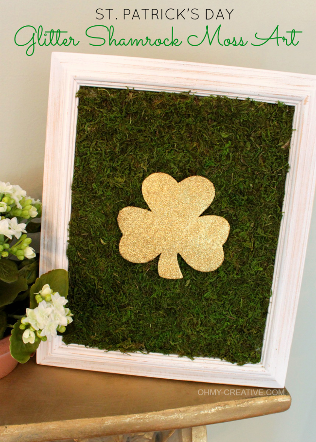 Glitter-Shamrock-Moss-Art-2.png St. Patrick Day Ideas Holidays