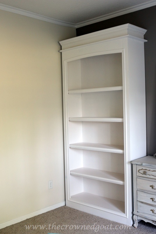 041816-11 Custom Office Bookcases DIY Painted Furniture