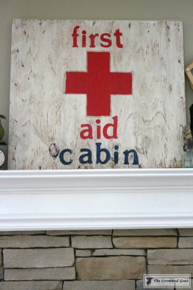 How to Make a First Aid Cabin Sign - The Crowned Goat - 061215-7