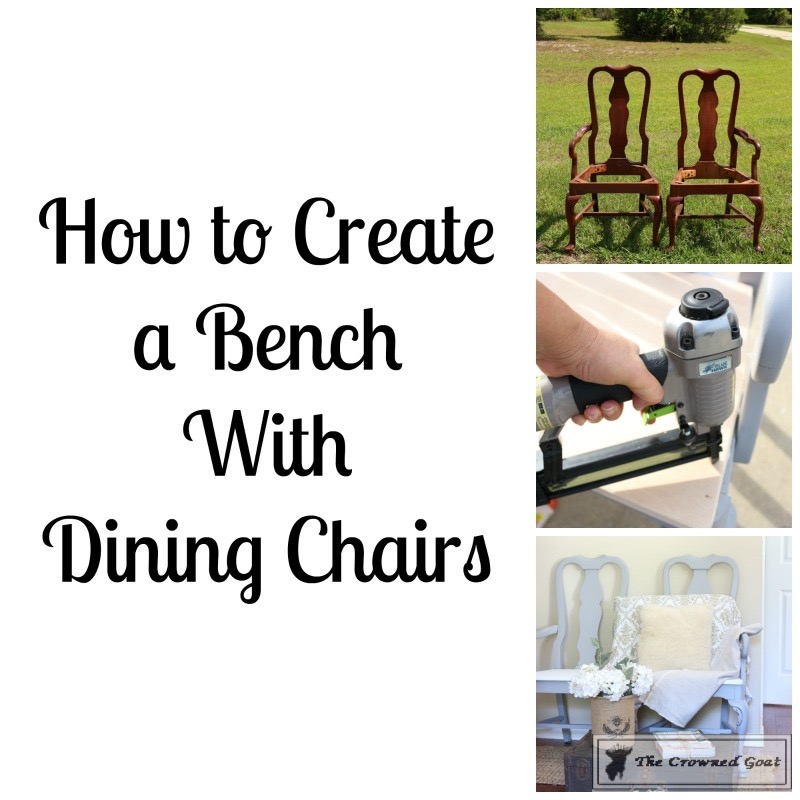 062416-1 Creating a Bench from Dining Chairs DIY Painted Furniture