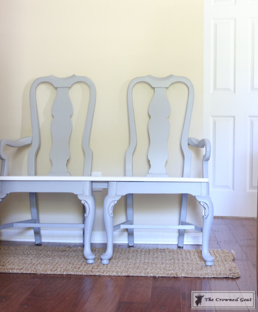 062416-151-846x1024 Creating a Bench from Dining Chairs DIY Painted Furniture