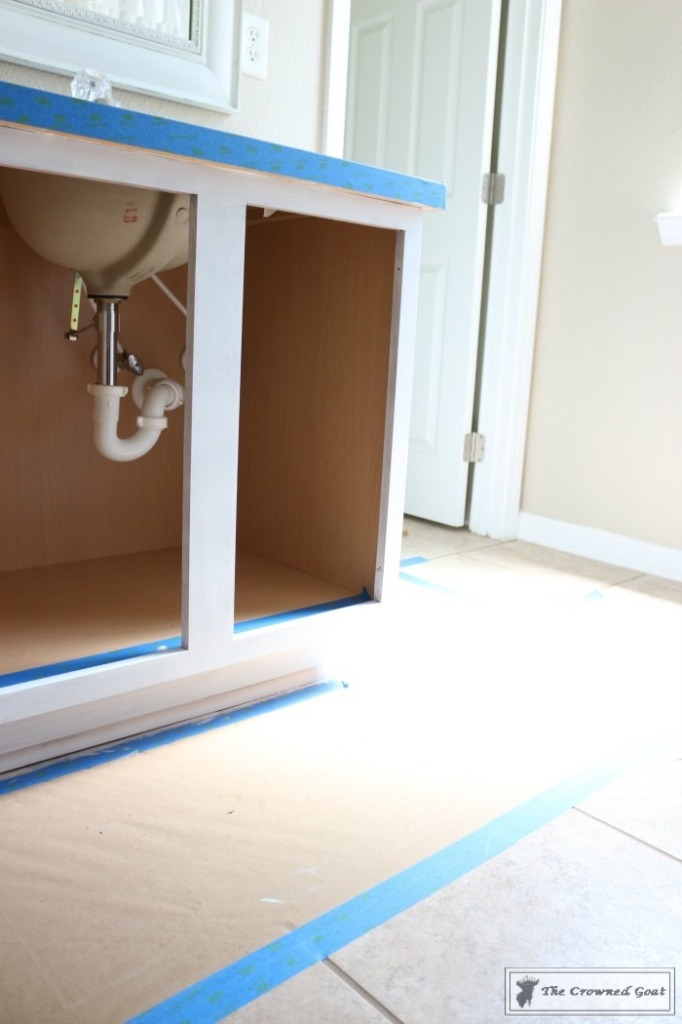 072216-16-682x1024 Painting a Bathroom Cabinet with General Finishes Milk Paint DIY Painted Furniture