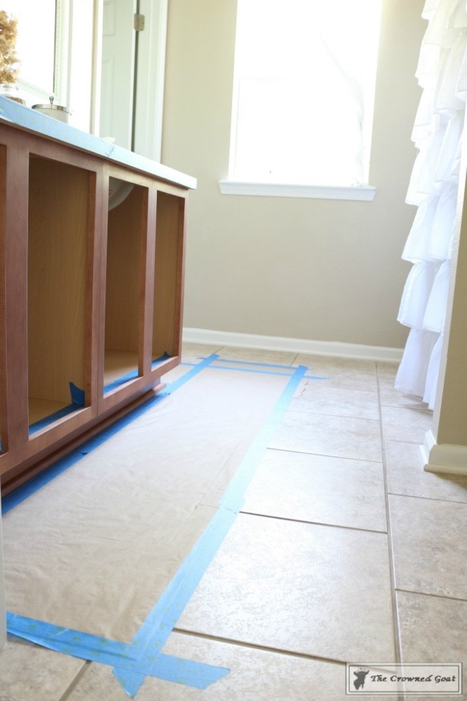 072216-4-682x1024 Painting a Bathroom Cabinet with General Finishes Milk Paint DIY Painted Furniture
