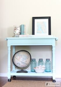 Beach Cottage Inspired Painted Table - 11