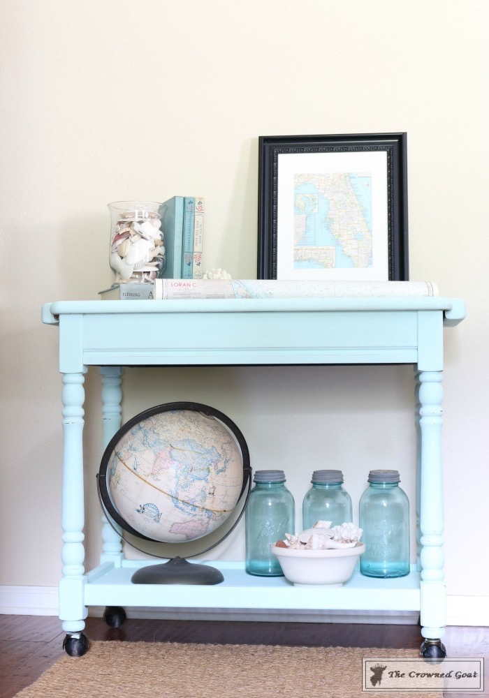Beach-Cottage-Inspired-Painted-Table-11 Beach Cottage Inspired Table  Painted Furniture