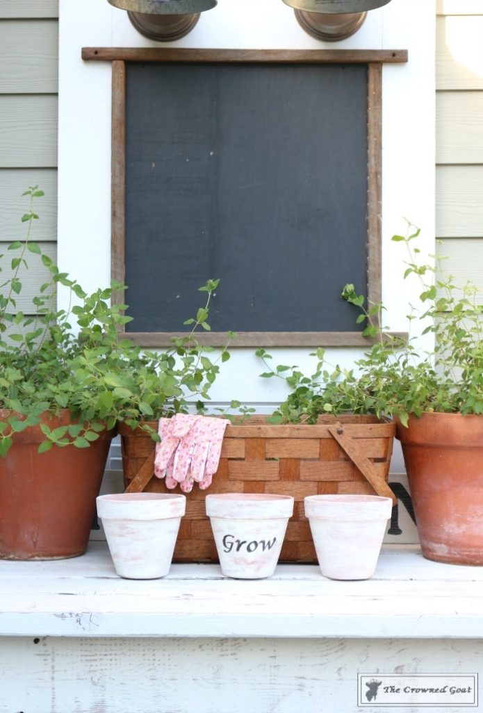 White Washing Terra Cotta Pots with Chalk Paint-17