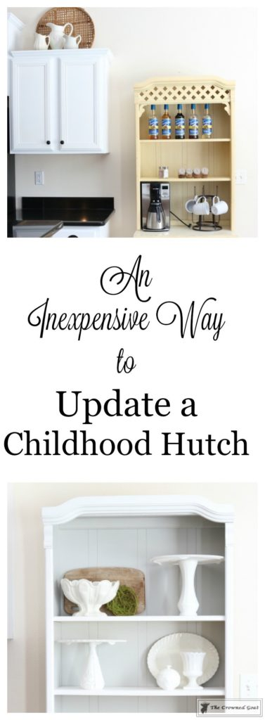 Childhood-Hutch-Makeover-2-377x1024 An Inexpensive Way to Update a Childhood Hutch DIY Painted Furniture