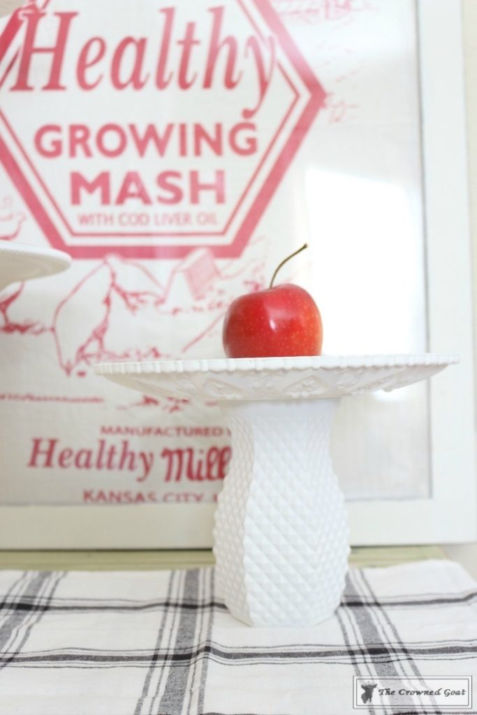 DIY-Faux-Milk-Glass-Cake-Stand-11-683x1024 How to Make a Faux Milk Glass Cake Stand Decorating DIY Fall