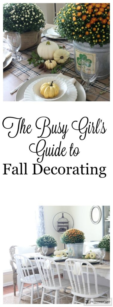 Fall-Decorating-in-the-Dining-Room-1-377x1024 The Busy Girl's Guide to Fall Decorating: The Dining Room Decorating DIY Fall Holidays