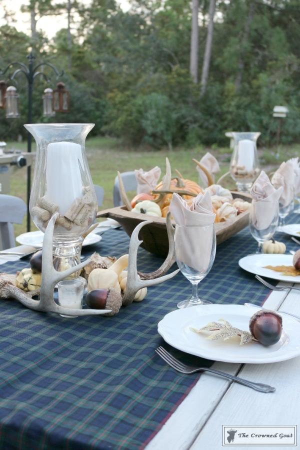 Outdoor-Fall-Tablescape-13 Outdoor Fall Tablescape Decorating DIY Holidays