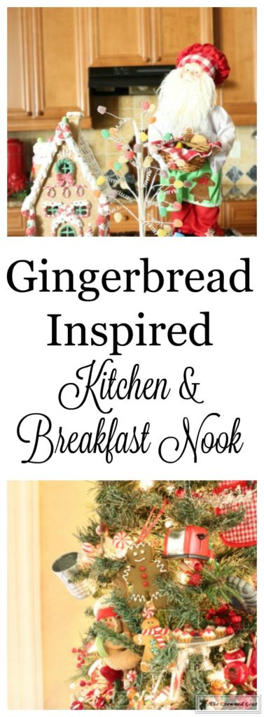 Gingerbread-Inspired-Kitchen-and-Breakfast-Nook-1-377x1024 Gingerbread Inspired Breakfast Nook and Kitchen Tour Christmas Decorating Holidays