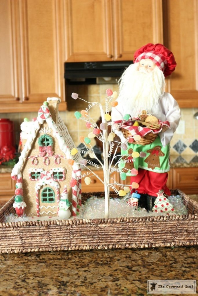 Gingerbread-Inspired-Kitchen-and-Breakfast-Nook-3-683x1024 Gingerbread Inspired Breakfast Nook and Kitchen Tour Christmas Decorating Holidays