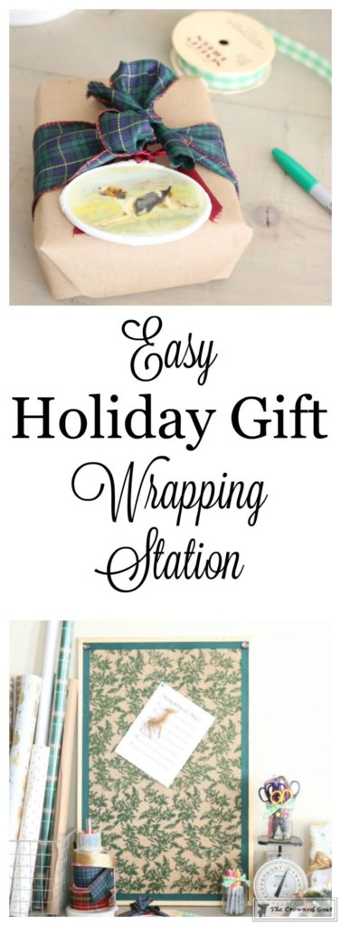 Holiday-Gift-Wrap-Station-1-377x1024 Holiday Gift Wrapping Station Christmas DIY Holidays