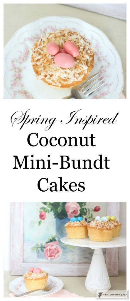 Coconut-Mini-Bundt-Cakes-1-443x1024 Spring Inspiration: Coconut Mini-Bundt Cakes Baking
