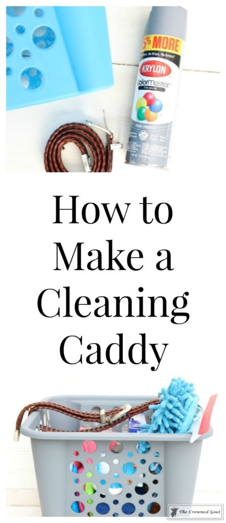 DIY-Cleaning-Caddy-The-Crowned-Goat-1-443x1024 How to Create a Budget Friendly Cleaning Caddy DIY Organization