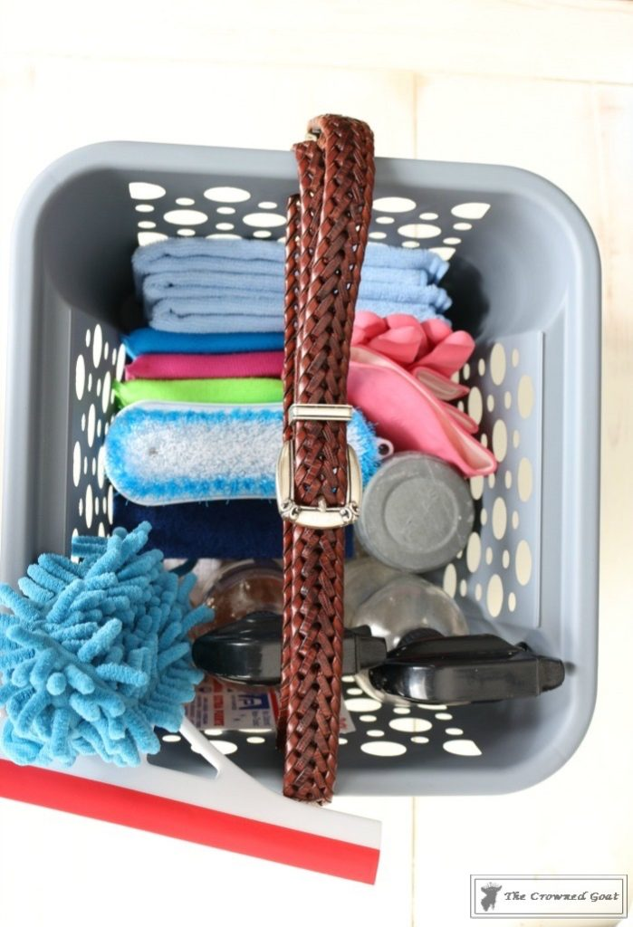 DIY-Cleaning-Caddy-The-Crowned-Goat-13-699x1024 How to Create a Budget Friendly Cleaning Caddy DIY Organization