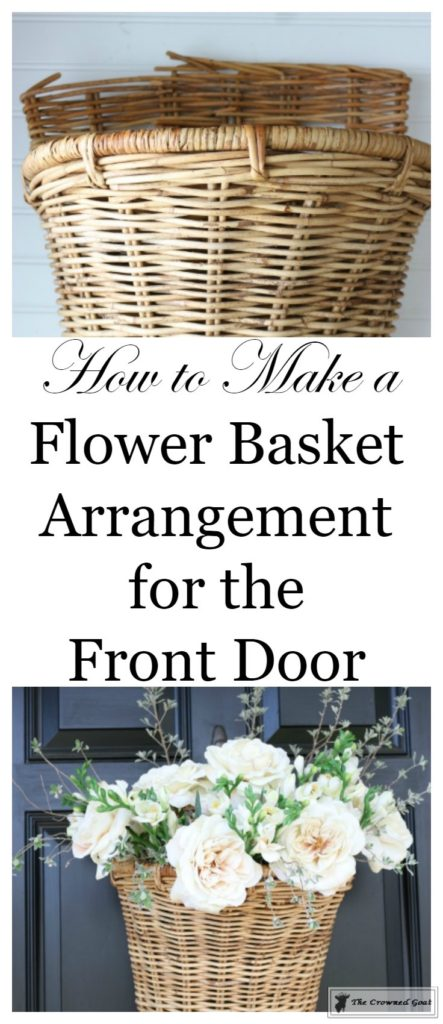 How-to-Make-a-Spring-Flower-Basket-1-443x1024 Spring Front Door Flower Basket DIY