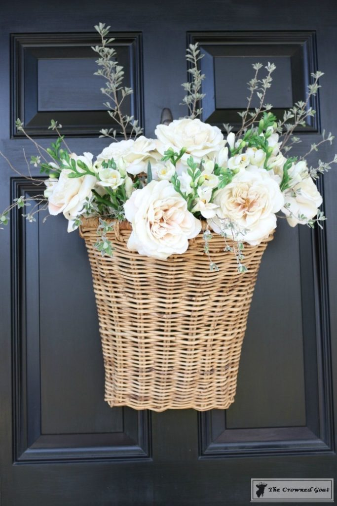 How-to-Make-a-Spring-Flower-Basket-13-683x1024 Spring Front Door Flower Basket DIY