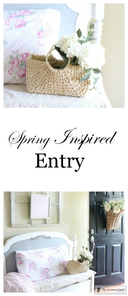 Spring-Entry-The-Crowned-Goat-1-443x1024 Spring Inspired Entry Decorating Spring