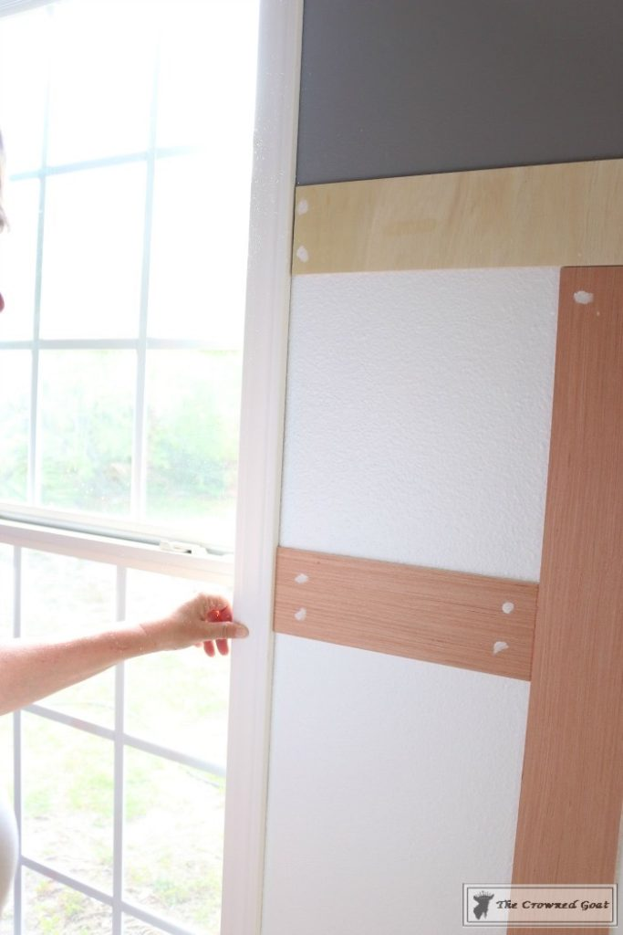 Budget-Friendly-Window-Trim-4-683x1024 A $30 Window Upgrade DIY One_Room_Challenge