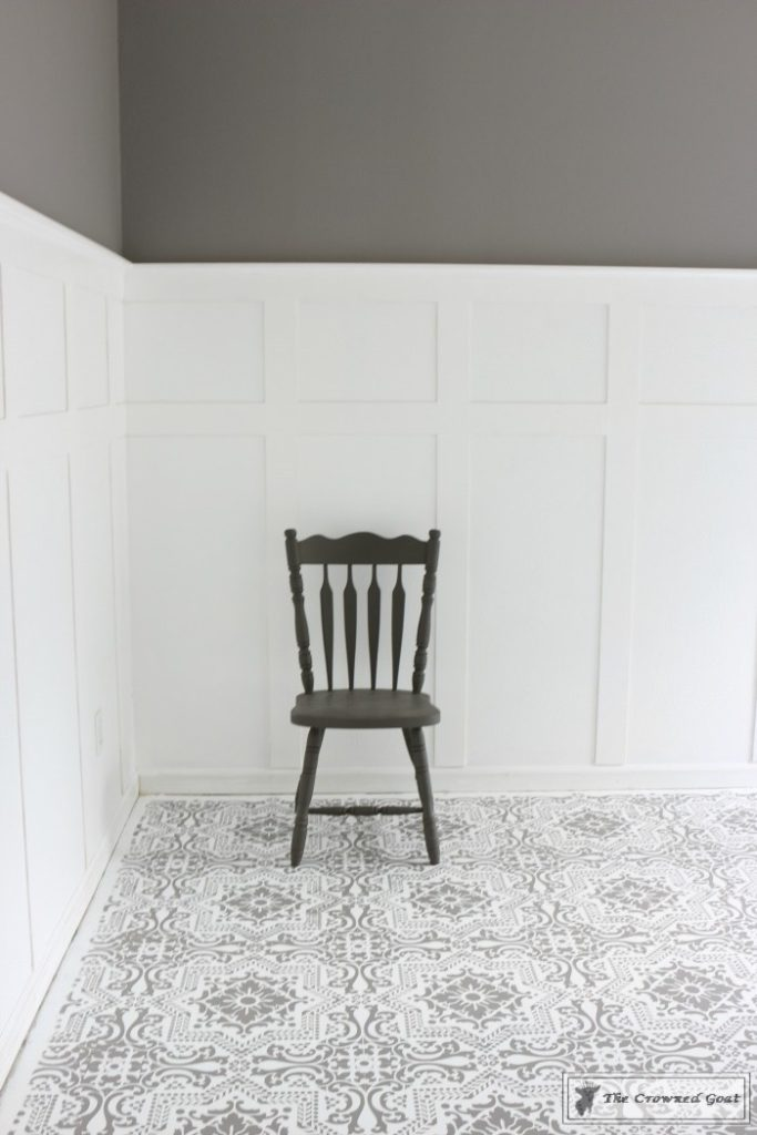 Easily-Stencil-a-Concrete-Floor-16-683x1024 How to Stencil a Concrete Floor Like a Pro DIY One_Room_Challenge Painted Furniture