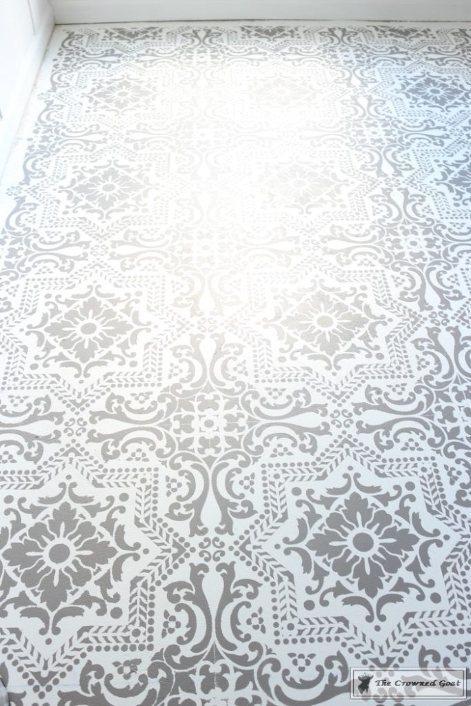 Easily-Stencil-a-Concrete-Floor-17-683x1024 How to Stencil a Concrete Floor Like a Pro DIY One_Room_Challenge Painted Furniture