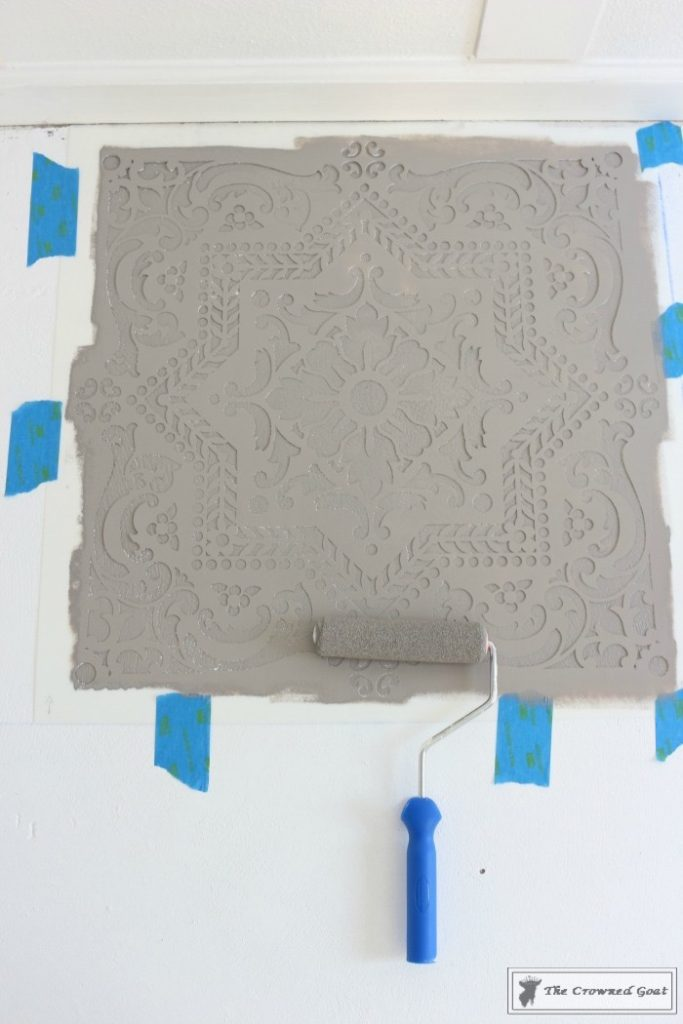 Easily-Stencil-a-Concrete-Floor-8-683x1024 How to Stencil a Concrete Floor Like a Pro DIY One_Room_Challenge Painted Furniture