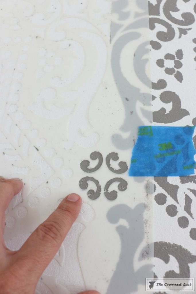 Easily-Stencil-a-Concrete-Floor-9-683x1024 How to Stencil a Concrete Floor Like a Pro DIY One_Room_Challenge Painted Furniture