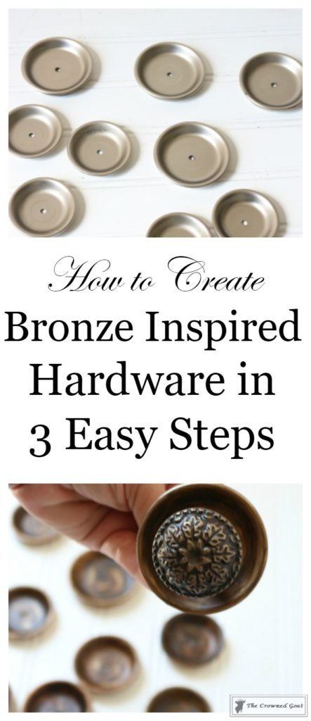 Faux-Bronze-Hardware-in-Three-Easy-Steps-1-443x1024 Creating Faux Bronze Hardware in 3 Easy Steps Decorating DIY One_Room_Challenge